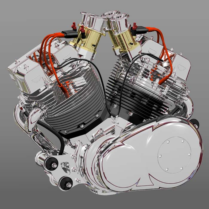 Bad Dog Cycles On The Way An Air Cooled V Twin Quot Monster